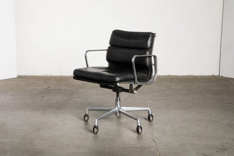Soft Pad Management Chair by Charles Eames for Herman Miller, Signed & Dated For Sale 6