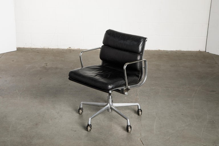 Soft Pad Management Chair by Charles Eames for Herman Miller, Signed & Dated For Sale 7