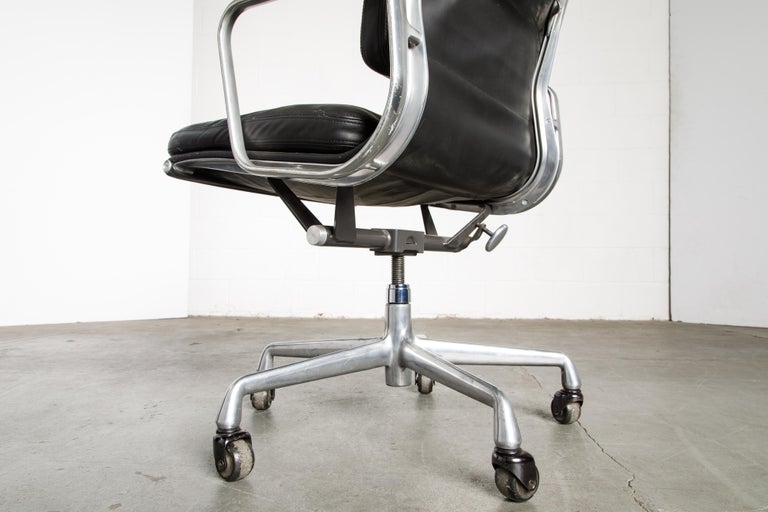 Soft Pad Management Chair by Charles Eames for Herman Miller, Signed & Dated For Sale 11