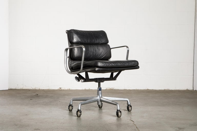 American Soft Pad Management Chair by Charles Eames for Herman Miller, Signed & Dated For Sale