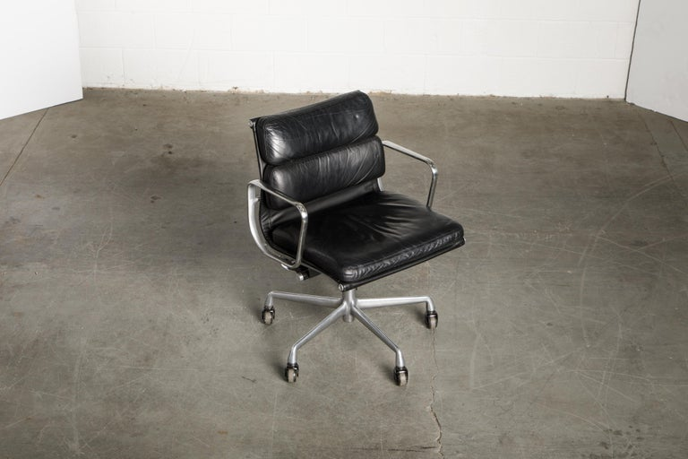 Soft Pad Management Chair by Charles Eames for Herman Miller, Signed & Dated In Good Condition For Sale In Los Angeles, CA