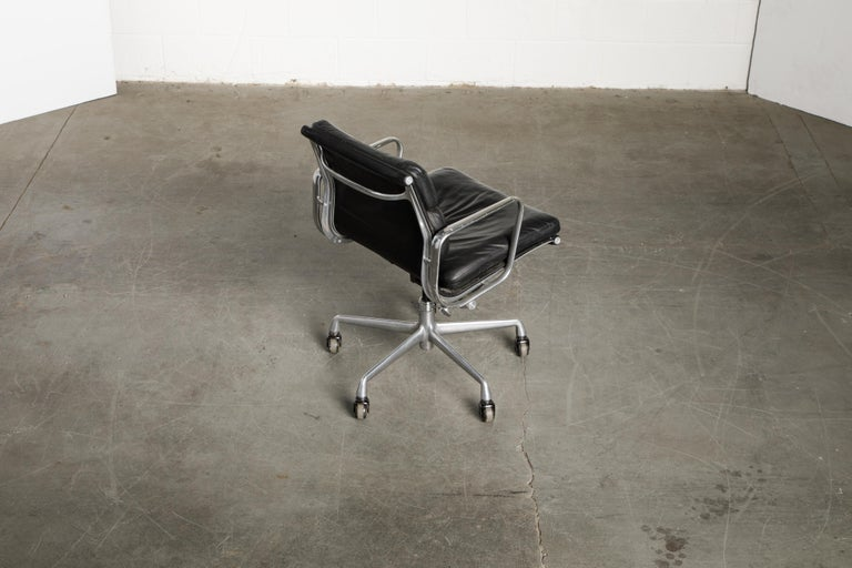 Soft Pad Management Chair by Charles Eames for Herman Miller, Signed & Dated For Sale 1