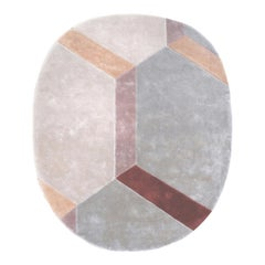 Soft Pastel Colors Organic Shape Sustainable Rug by Deanna Comellini