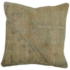 Soft Peach Green Oushak Pillow