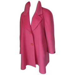 Soft Pink Cashmere Car Coat