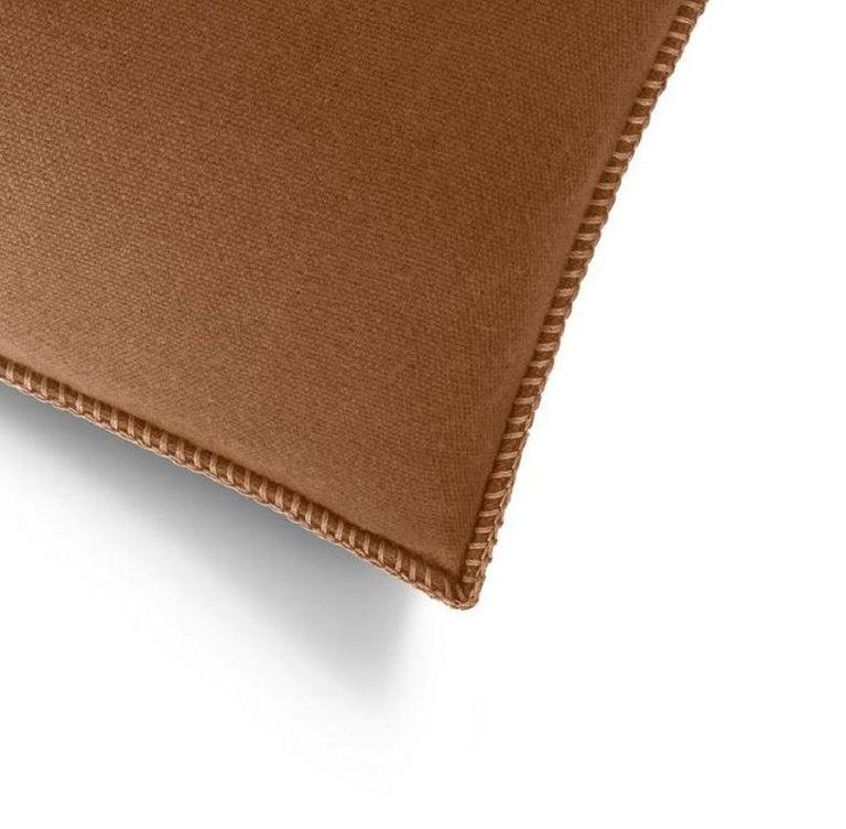 Modern Molteni&C Soft Plaid Cushion Merino Wool For Sale