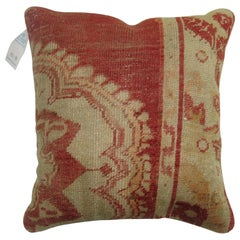 Soft Red Traditional Turkish Rug Pillow