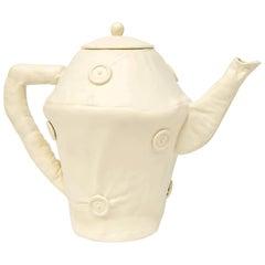 Soft Teapot, White Ceramics