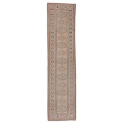 Soft Toned Vintage Oushak Runner