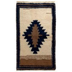 Soft Wool Tulu Rug, Simple Geometric Design, Custom Options Available