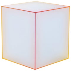 Soft Yellow and Orange Small Low Side Table, by Design Nendo from Glas Italia