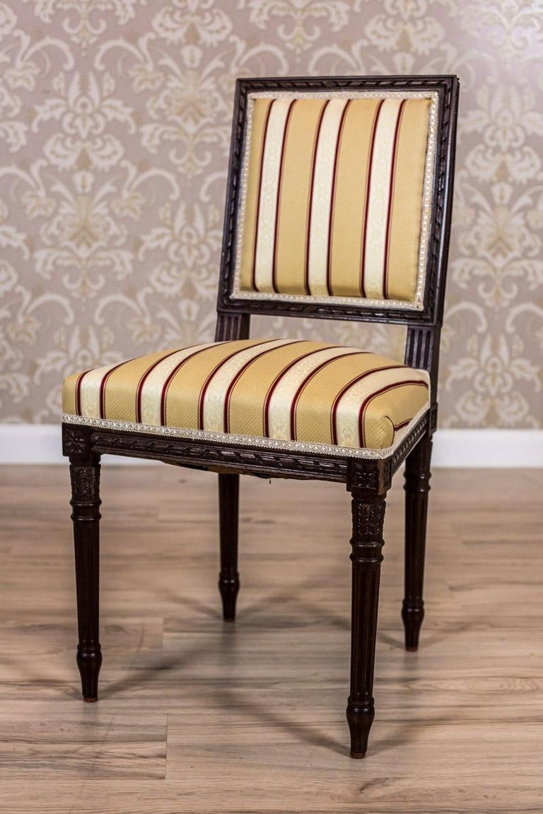 French Softly Upholstered Chairs in the Louis XVI Type, circa Early 20th Century For Sale