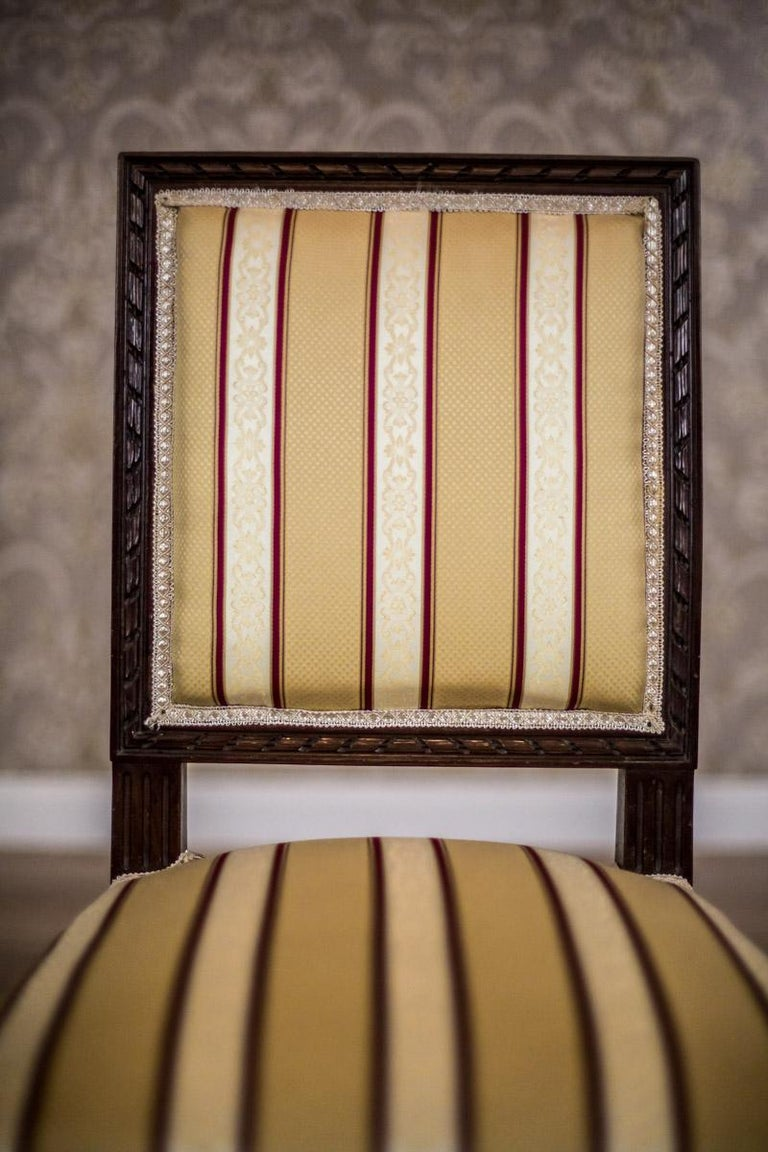 Upholstery Softly Upholstered Chairs in the Louis XVI Type, circa Early 20th Century For Sale
