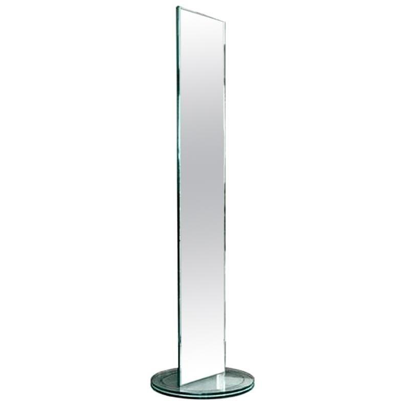 Soglia Floor Mirror, Designed by Isao Hosoe, Made in Italy
