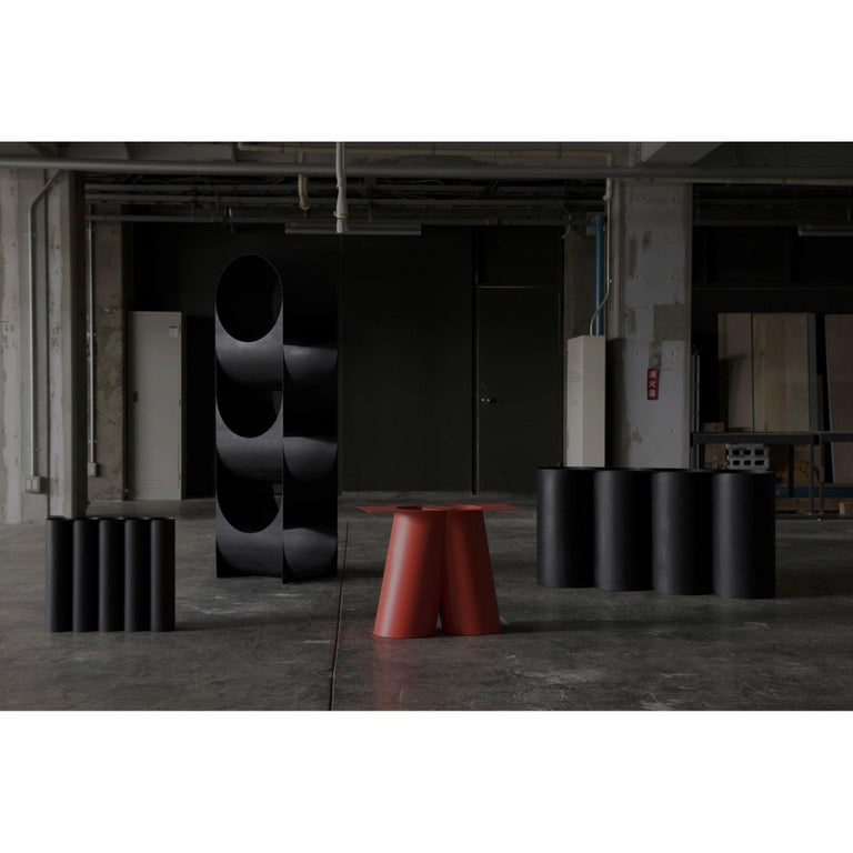Painted Sohma Furutate Mass Base Small Contemporary Steel Work For Sale