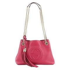 Soho Chain Strap Shoulder Bag Leather Mini