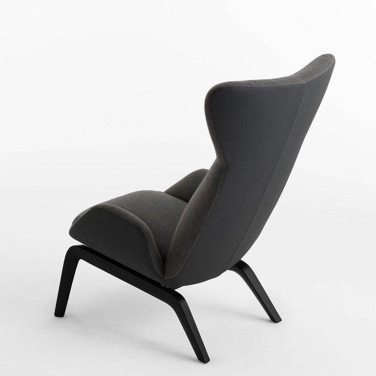 Soho Gray Armchair by Studio Balutto For Sale at 1stdibs
