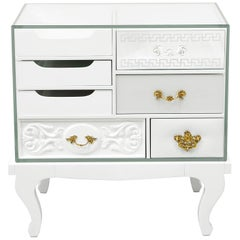 Soho Nightstand Small with Glass Top