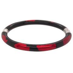 Soho Red and Black Foliage Bangle