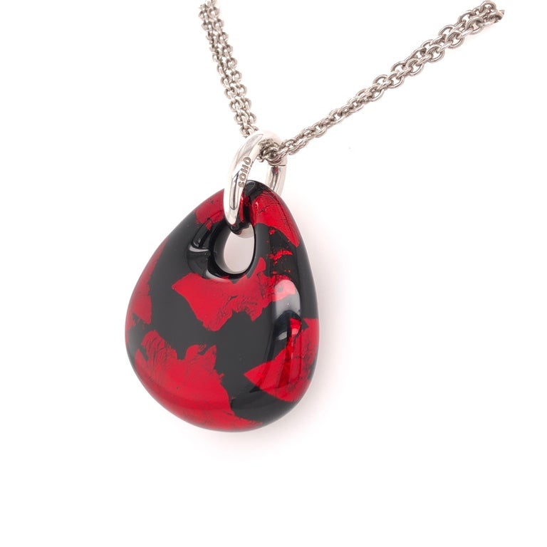 SOHO Red and Black Foliage Pendant on a two strand 18