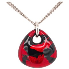 SOHO Red and Black Foliage Pendant