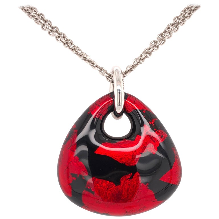 SOHO Red and Black Foliage Pendant For Sale