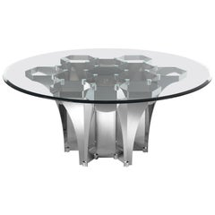Soho Round Dining Table with Metal Base by Roberto Cavalli Home Interiors
