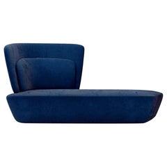 Soho Blue Side Sofa, Designed by Stefano Bigi, Made in Italy