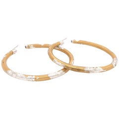 SOHO Silver and Gold Foliage Hoops