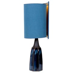 Soholm Table Lamp with New Silk Custom Made Lampshade René Houben