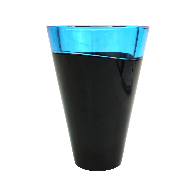 Soichiro Sasakura for Sasaki Japanese Postmodern 'San Marino' Art Glass Vase