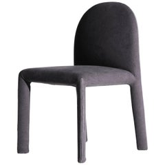 Soiree Chair with Stitch Detail in Charcoal, Oscar & Gabriele Buratti for Driade