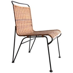 Sol-Air Chair w/ Iron Frame and Cane Seat by Pipsan Saarinen Swanson, circa 1950