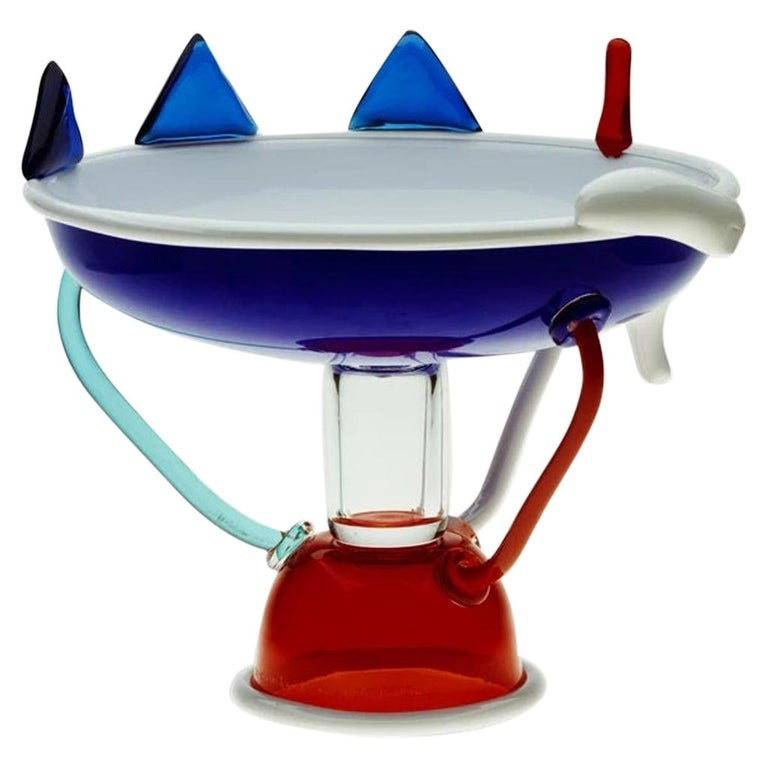 Sol Glass Fruit Bowl, by Ettore Sottsass from Memphis Milano For Sale