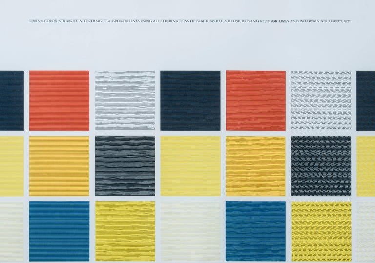 20th Century Lines and color Color Screen Print