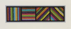 Bands (not straight) in Four Directions - Sol LeWitt, Prints, Woodcut, Abstract.