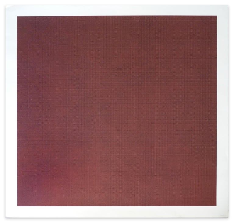 Sol LeWitt Abstract Print - Black Lines in Four Directions on Color