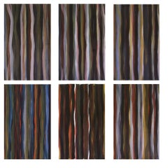 Brushstrokes in Different Colors in Two Directions