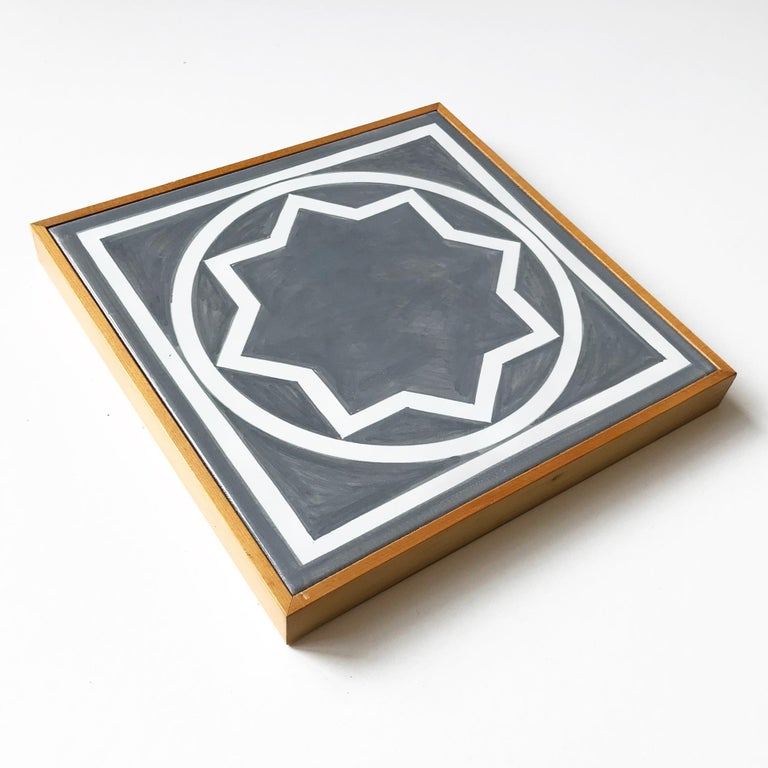 Untitled, Ceramic Wall Tile (Grey), Geometric Abstraction, Minimalism - Painting by Sol LeWitt
