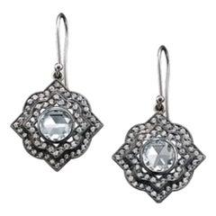 Solange Azagury-Partridge Supernova Diamond and 18K White Gold Earrings