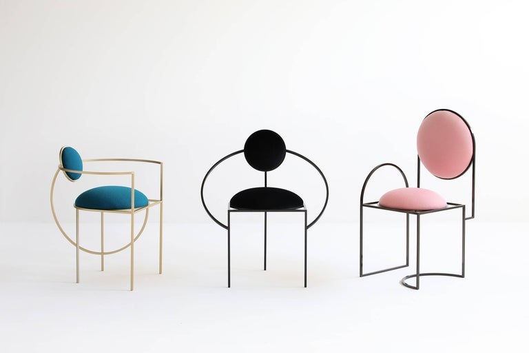 This is the first time that Bohinc explores a design favorite; the chair, produced by Matter of Stuff.   In the collection, Lara Bohinc develops her stellar themes, finding inspiration in planetary and lunar orbits, whose curved trajectories drive