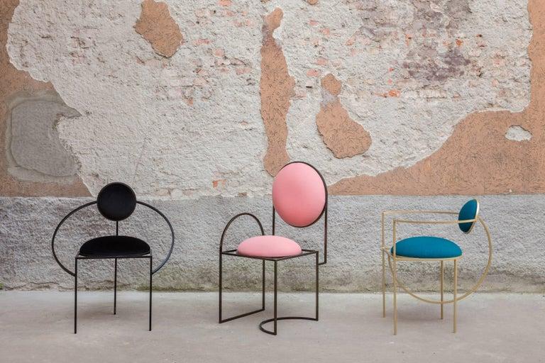 Italian Solar Chair in Pink by Lara Bohinc For Sale