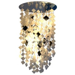 Solar Chandelier, Contemporary Capiz Shell Solar-Powered Lighting, Customizable