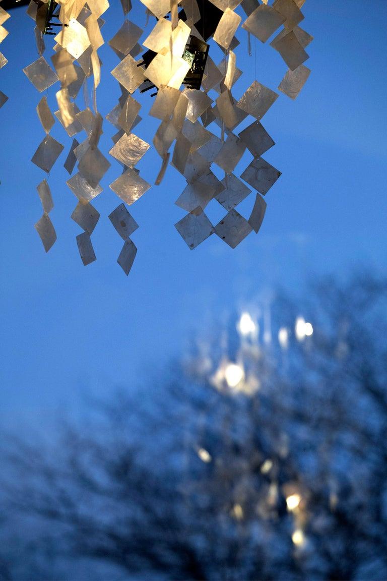 Solar Kronleuchter, Zeitgenössische Solarbetriebene Muschellampe, Anpassbar 8