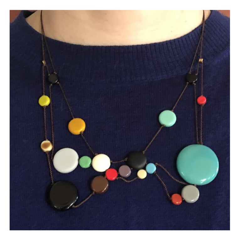Retro Solar Necklace (Bright) For Sale