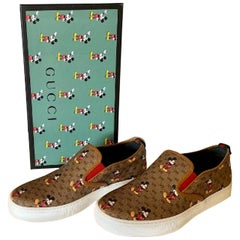 SOLD OUT Gucci Mickey Mouse Men's Size 10.5 Slip-on Sneakers