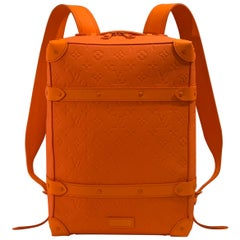 SOLD OUT Louis Vuitton Virgil Abloh Figures of Speech Orange Soft Trunk Backpack