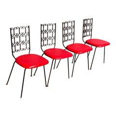 Set of Four Arthur Umanoff Granada Chairs