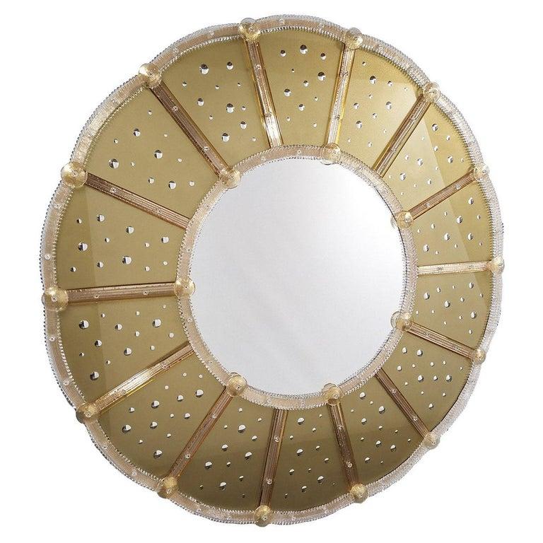 Sole Murano Glass Mirror For Sale