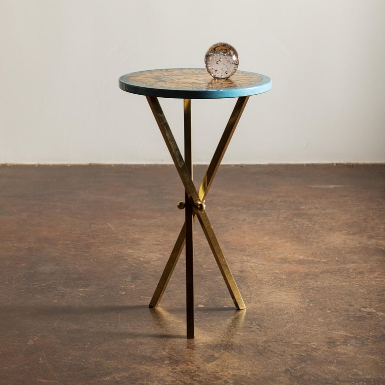 Beautiful side table by Piero Fornasetti. Italy, 1960s.